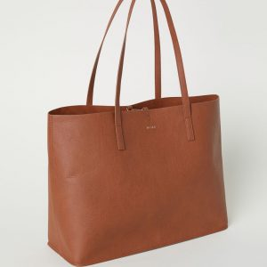 Cognac Brown Reversible shopper