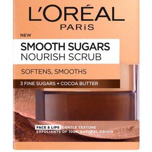 L'Oreal Paris Smooth Sugar Nourish Cocoa Face And Lip Scrub 50ml
